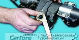 Рулевое управление — как ремонтировать рулевую колонку на ВАЗ 2106, 2107 своими руками