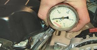 Проверка компрессии (давления) в цилиндрах двигателя автомобиля