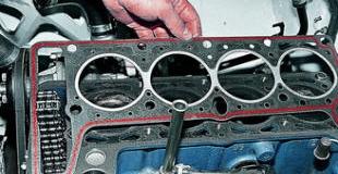 Замена прокладки головки блока цилиндров в двигателе автомобиля
