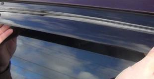 Как снять дефлекторы боковых окон самому быстро и правильно