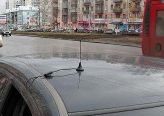 Установленная автомобильная антенна