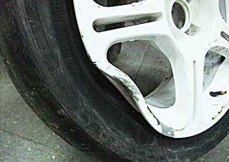Поврежденные колесный диск