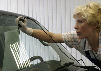 Ремонт трещин лобового стекла