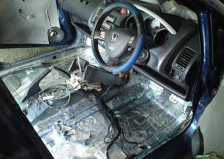 Шумоизоляция передней части авто