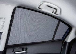 Фтография съемной шторке на окне задней дверцы, www.benzclub.ru