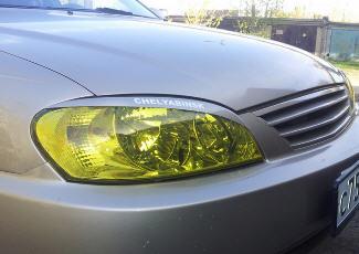 Фотография авто с затонированными передними фарами, drive2.ru