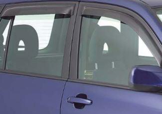 Установленные дефлекторы на окнах