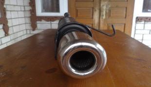 Как сделать насадку на глушитель 2
