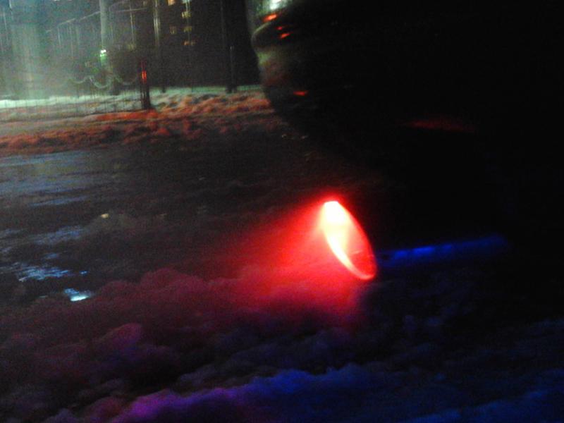 Насадка на глушитель с подсветкой