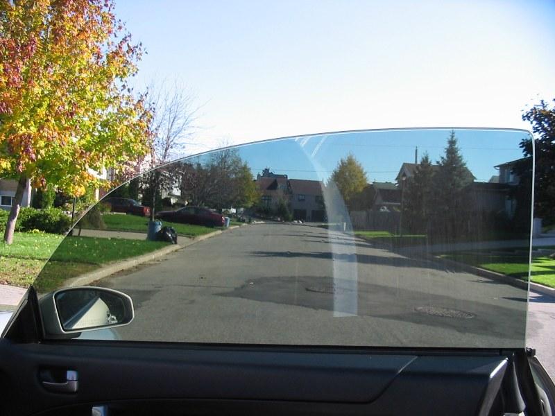 Затонированное стекло перед снятием пленки