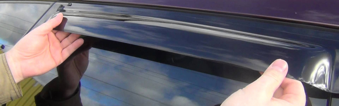 Фотография дефлектора на окне